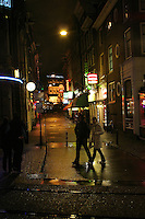 Amsterdam night photography of Reguliersdwarsstraat,