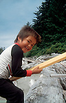 Canada, Nuu Chah Nulth child, Clayoquot Sound, Vancouver Island, British Columbia.