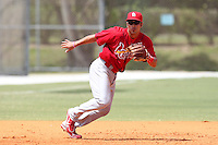 St. Louis Cardinals minor league player Niko Vasquez during a spring training game vs the Florida Marlins at the Roger Dean Sports Complex in Jupiter, Florida;  March 25, 2011.  Photo By Mike Janes/Four Seam Images