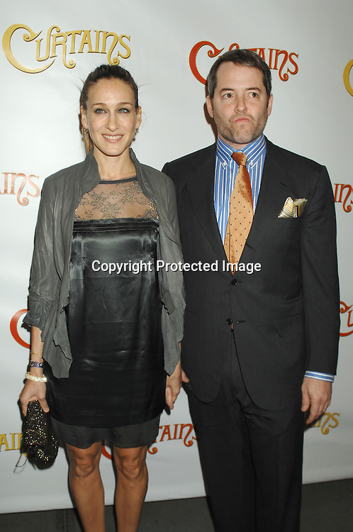 """Sarah Jessica Parker and Matthew Broderick..arriving at The Broadway Opening of """"Curtains"""" on      March 22, 2007 at The Hirschfeld Theatre in New York...Robin Platzer, Twin Images"""