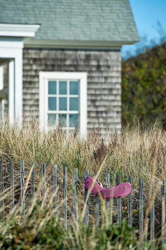 Beach house detail, Cape Cod, Massachusetts, USA
