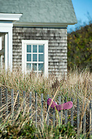 Beach house detail, Cape Cod, Massachusetts, USA