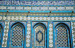 Israel, Jerusalem Old City. Dome of the Rock, Multicolored tilework&#xA;&#xA;<br />