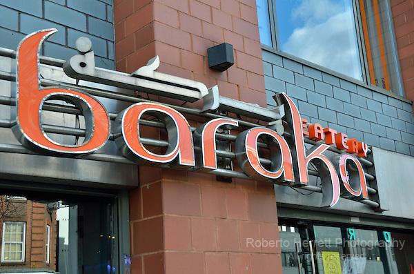 Baraka Eatery restaurant in Whitechapel Road, London, UK.