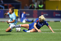 Millie Bright of Chelsea Ladies tackles Nikita Parris of Manchester City Women during Chelsea Women vs Manchester City Women, FA Women's Super League FA WSL1 Football at Kingsmeadow on 9th September 2018