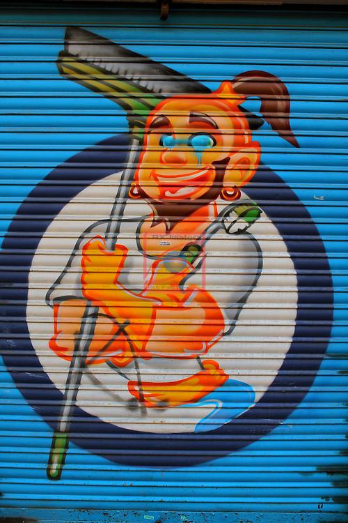 Street Art-Graffittis.<br /> Avda. Mistral.<br /> Barcelona- Sant Antoni (Eixamble).
