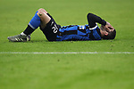 Stefano Sensi of Inter lays on the pitch holding his face following a collision with an opponent during the Coppa Italia match at Giuseppe Meazza, Milan. Picture date: 14th January 2020. Picture credit should read: Jonathan Moscrop/Sportimage