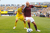 21 AUGUST 2010:  Colorado Rapids forward Conor Casey (9) during MLS soccer game between Colorado Rapids vs Columbus Crew at Crew Stadium in Columbus, Ohio on August 21, 2010.