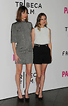 LOS ANGELES, CA- MAY 05: Writer/director Gia Coppola (L) and actress Nathalie Love arrive at Tribeca Film's 'Palo Alto' - Los Angeles Premiere at the Director's Guild of America on May 5, 2014 in Los Angeles, California.