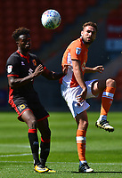 Blackpool's Clark Robertson competes with Milton Keynes Dons' Gboly Ariyibi<br /> <br /> Photographer Richard Martin-Roberts/CameraSport<br /> <br /> The EFL Sky Bet League One - Blackpool v Milton Keynes Dons - Saturday August 12th 2017 - Bloomfield Road - Blackpool<br /> <br /> World Copyright &copy; 2017 CameraSport. All rights reserved. 43 Linden Ave. Countesthorpe. Leicester. England. LE8 5PG - Tel: +44 (0) 116 277 4147 - admin@camerasport.com - www.camerasport.com