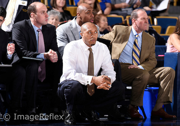 Florida International University Head Coach Anthony Evans during the game against Western Kentucky University which won the game 65-58 on January 17, 2015 at Miami, Florida.