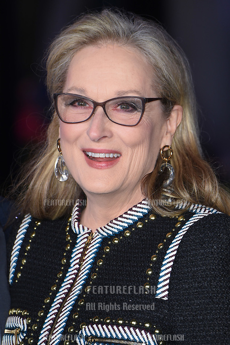 "LONDON, UK. December 12, 2018: Meryl Streep at the UK premiere of ""Mary Poppins Returns"" at the Royal Albert Hall, London.<br /> Picture: Steve Vas/Featureflash"