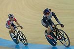 Ma Wing Yu (R) of the Ligne 8- CSR competes in the Women Elite - Sprint Final category during the Hong Kong Track Cycling National Championships 2017 at the Hong Kong Velodrome on 18 March 2017 in Hong Kong, China. Photo by Chris Wong / Power Sport Images