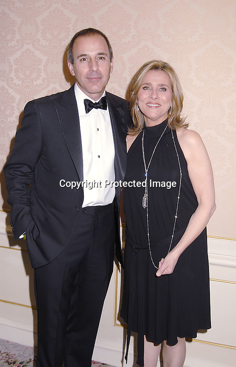 Matt Lauer and Meredith Vieira..at The Museum of The Moving Image Dinner Honoring ..Matt Lauer, co-anchor of NBC News' Today and Debra Lee, Chairman and ECO of BET Networks on April 26, 2007 at The St Regis Hotel. ..Robin Platzer, Twin Images