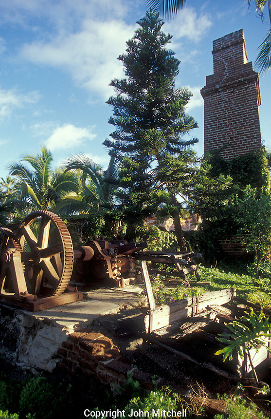 Ruins of El Molino, an old sugar mill in the Spanish colonial town of Todos Santos , Baja California Sur, Mexico