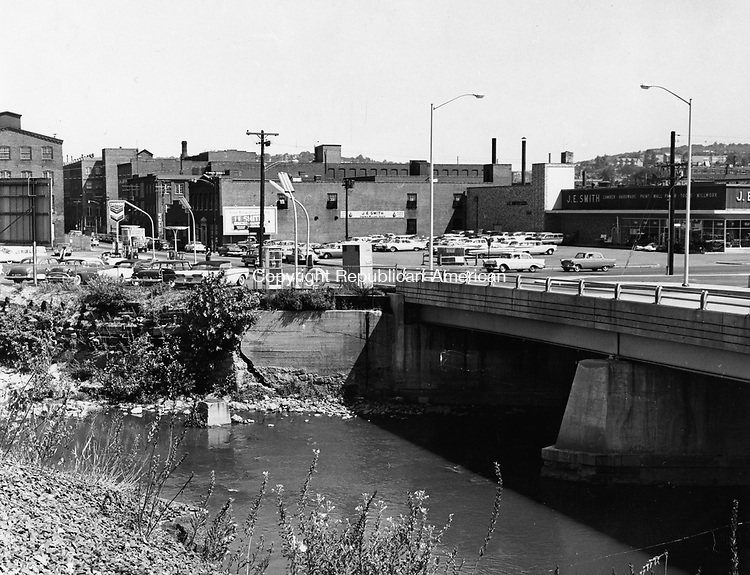 The Bank Street Bridge as it appeared on August 19, 1960, five years after the flood of August 19, 1955.