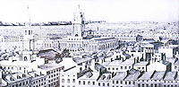 New York:  Panorama--1842-45.  City Hall on right.