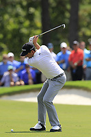 Keegan Bradley (USA) plays his 2nd shot on the 1st hole during Saturday's Round 3 of the 2017 PGA Championship held at Quail Hollow Golf Club, Charlotte, North Carolina, USA. 12th August 2017.<br /> Picture: Eoin Clarke | Golffile<br /> <br /> <br /> All photos usage must carry mandatory copyright credit (&copy; Golffile | Eoin Clarke)
