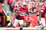 Wisconsin Badgers kick returner Derrick Tindal (25) returns a kick during an NCAA College Big Ten Conference football game against the Iowa Hawkeyes Saturday, November 11, 2017, in Madison, Wis. The Badgers won 38-14. (Photo by David Stluka)