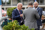 15th September 2017, Doncaster Racecourse, Doncaster, England; The William Hill St Ledger Festival, Gentleman's Day; Three Gentlemen enjoy a drink before the races start