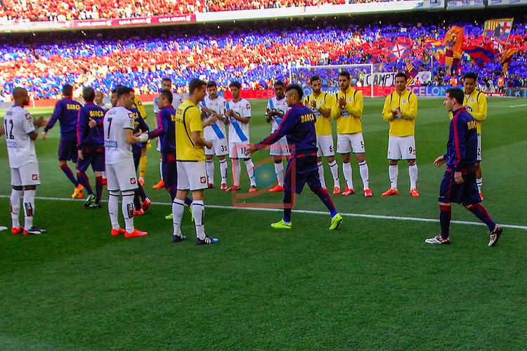 League BBVA 2014/2015. Game: 38.<br /> FC Barcelona vs Deportivo: 2-2.