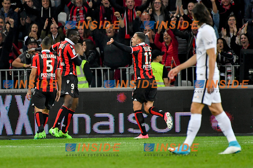 Joie OGC Nice - Mario Balotelli (OGC Nice)<br /> Nizza 30-04-2017 <br /> Nice - Paris Saint Germain Ligue 1 2016/2017  <br /> Foto Philippe LECOEUR/ Panoramic/insidefoto