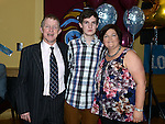 Aaron Reay celebrating his 21st birthday in the thatch with parents Liam and Sandra. Photo:Colin Bell/pressphotos.ie