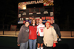 #11 Danielle Keeley poses for a photo with her parents and grandparents after Maryland's 10-0 win over VCU at the Field Hockey and Lacrosse Complex in College Park MD on October 30, 2008.  Christopher Blunck/UMTerps.com.
