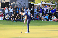Justin Rose (ENG) takes his putt to win the playoff hole at the end of Sunday's Final Round of the 2018 Turkish Airlines Open hosted by Regnum Carya Golf &amp; Spa Resort, Antalya, Turkey. 4th November 2018.<br /> Picture: Eoin Clarke | Golffile<br /> <br /> <br /> All photos usage must carry mandatory copyright credit (&copy; Golffile | Eoin Clarke)