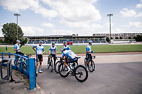 at the Roubaix velodrome<br /> <br /> reconnaissance of the (delayed, due to the Covid19 pandemic) Paris-Roubaix course by Team Israel - StartUp Nation <br /> <br /> Nord-Pas de Calais region (FRA), 17 july 2020<br /> ©kramon