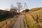 Road toward the historic iron headframe of the Fremont mine, Amador County, Calif.