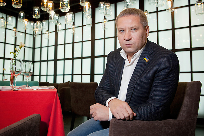 "Vladislav Lukianov MP Depty Chairman of the Parlamentary Committee of state development, regional policy and local self-governance.(Restaurant 'Ink"")"