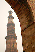 Qutub Minar, at 120 meters, is the tallest brick minaret in the world, and the second tallest minar in India after Fateh Burj at Mohali.