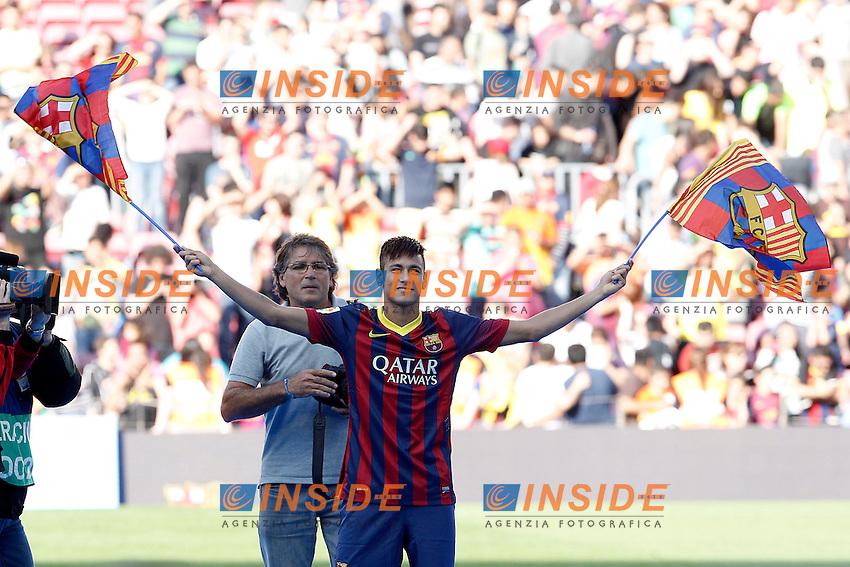 FC Barcelona's new player Neymar Da Silva during his official presentation.June 03,2013. (ALTERPHOTOS/Acero) <br /> Barcellona 3/6/2013 <br /> Football Calcio 2013/2014 La Liga Spagna<br /> Presentazione<br /> Foto Alterphotos / Insidefoto <br /> ITALY ONLY