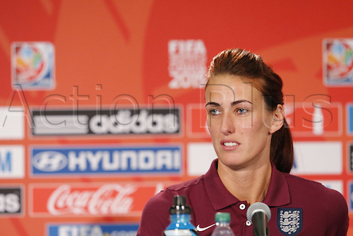 30.06.2015. Edmonton, Canada.  Jill Scott (ENG),  England press conference prior to the FIFA Women's World Cup Canada 2015 Semi-final match against Japan at Commonwealth Stadium in Edmonton, Canada.