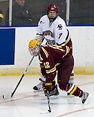 Tony Lucia (Minnesota - 12), Carl Sneep (BC - 7) - The Boston College Eagles defeated the University of Minnesota Golden Gophers 5-2 on Saturday, March 29, 2008, in the NCAA Northeast Regional Semi-Final at the DCU Center in Worcester, Massachusetts.