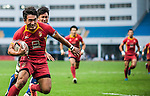 China Team in action during the HSBC Asian Rugby Sevens Series 2012 at the Yuanshen stadium on September 22, 2012 in Shanghai, China. Photo by Victor Fraile / The Power of Sport Images