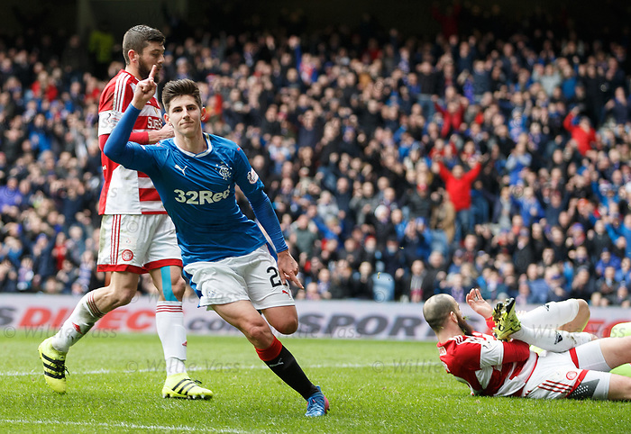 Emerson Hyndman celebrates his goal