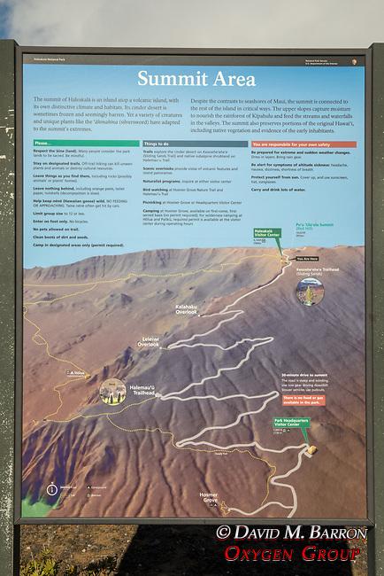 Interpretive Panel At Haleakala Summit