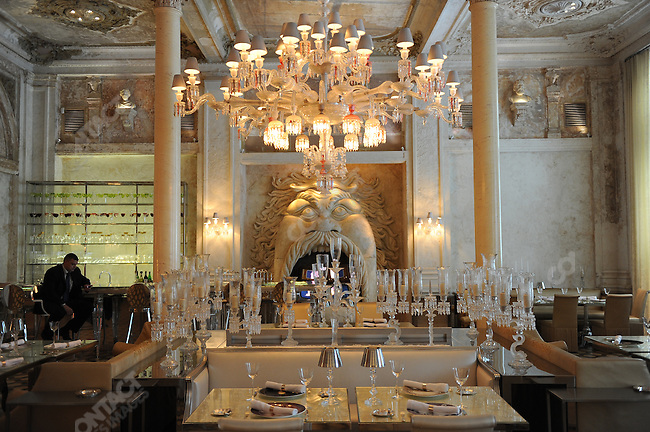 The Baccarat Crystal Room in Moscow, Russia, July 20, 2009