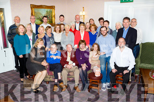 Michael Browne, Rushworth, Muckross Road, Killarney seated centre who celebrated his 95th birthday with his family and friends in the Dromhall Hotel Killarney on Saturday