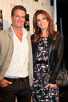 """MALIBU - OCT 21: Cindy Crawford, Rande Gerber at the """"Enter Miss Thang"""" Book Launch Party at Cafe Habana on October 21, 2013 in Malibu, California"""