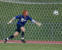 Goalkeeper Adam Bogdan of the Bolton Wanderers saves the ball.  The Charlotte Eagles currently in 3rd place in the USL second division play a friendly against the Bolton Wanderers from the English Premier League.