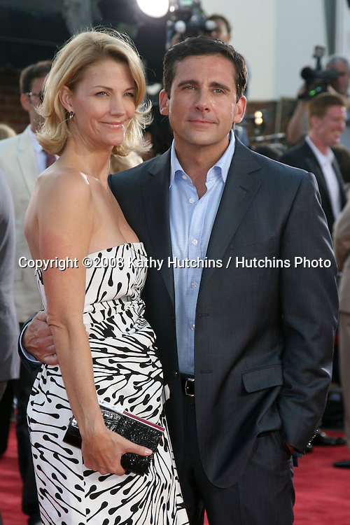 """Steve Carell & Wife arriving at the Premiere of """"Get Smart""""  at Mann's Village Theater in Westwood, CA.June 16, 2008.©2008 Kathy Hutchins / Hutchins Photo ."""