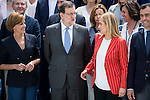 Maria Dolores de Cospedal, Mariano Rajoy and Cristina Cifuentes during the presentation of candidates to the Congress of Deputies in Madrid. May 24, 2016. (ALTERPHOTOS/Borja B.Hojas)