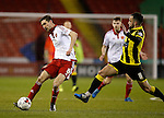 Chris Basham of Sheffield Utd tackled by Robbie Weir of Burton Albion - English League One - Sheffield Utd vs Burton Albion - Bramall Lane Stadium - Sheffield - England - 1st March 2016 - Pic Simon Bellis/Sportimage