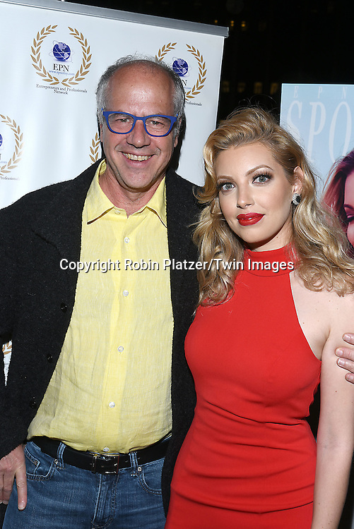 Jeff Franzel and Dalal/ Dalal Bruchmann. Recording Artist,Composer and Actress attends the &quot;EPN Spotlight Magazine&quot;  launch party on June 10, 2016 at the Renaissance NY Hotel in New York, New York, USA. Dalal Bruchmann is the cover model.<br /> <br /> photo by Robin Platzer/Twin Images<br />  <br /> phone number 212-935-0770