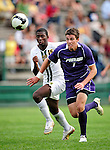 11 September 2009: University of Portland Pilots' defenseman Ryan Kawulok, a Sophomore from Fort Collins, CO, in action against the University of Vermont Catamounts in the first round of the 2009 Morgan Stanley Smith Barney Soccer Classic held at Centennial Field in Burlington, Vermont. The Catamounts and Pilots battled to a 1-1 double-overtime tie. Mandatory Photo Credit: Ed Wolfstein Photo