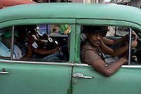 people in oldtimer,Havana, Cuba