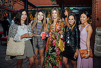 Anette Vartanian, Audrey Huynh, Melanee Shale, Joann Doan, Deniz Senkan at RMG's Summer Press Preview: Kick Off Summer Vintage Hawaiian Style with RIOT (Photo by Tiffany Chien/Guest Of A Guest)